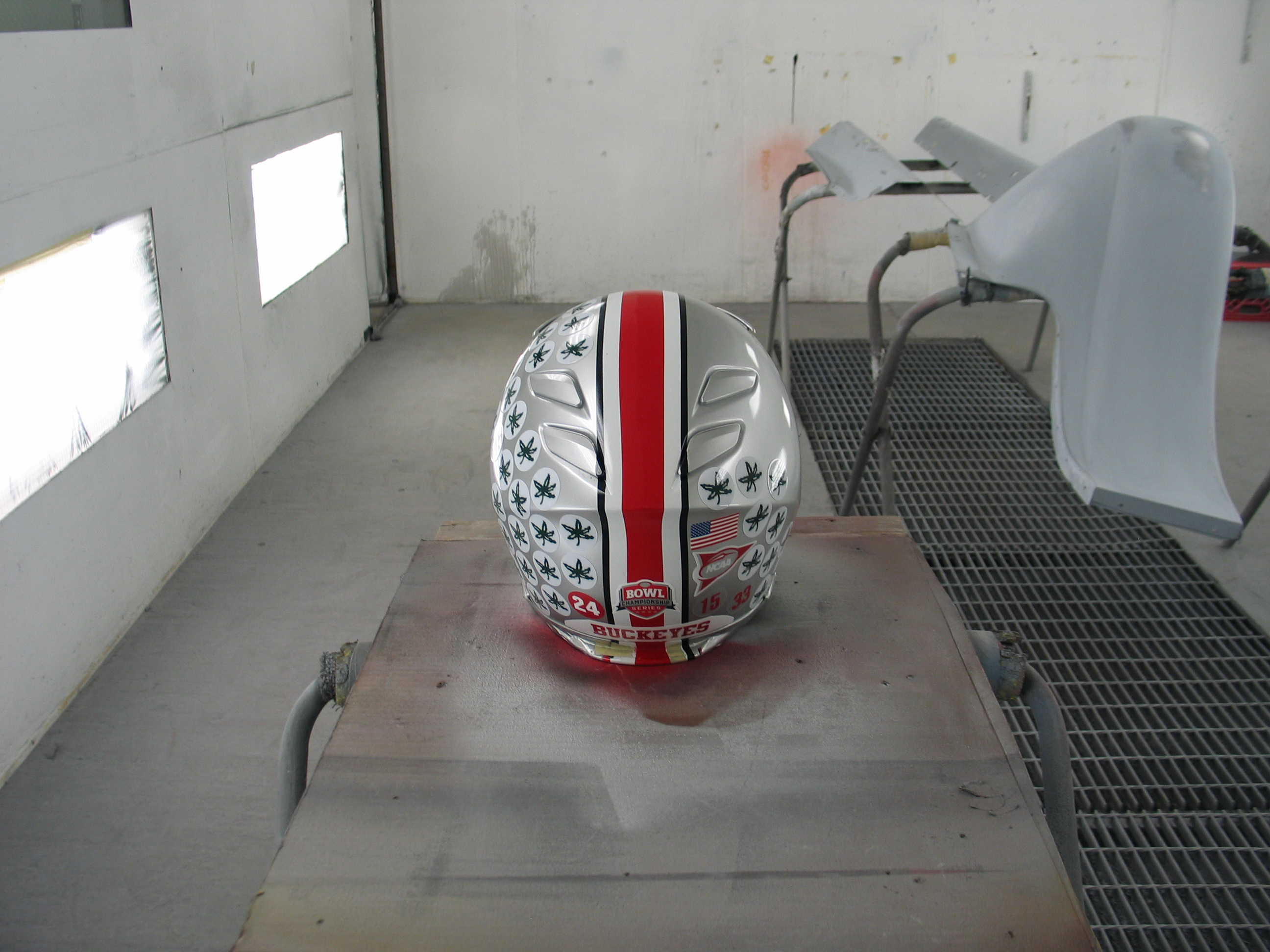 Football Helmet Painting : Guitars and misc real flames ustom painting shawn wilcox